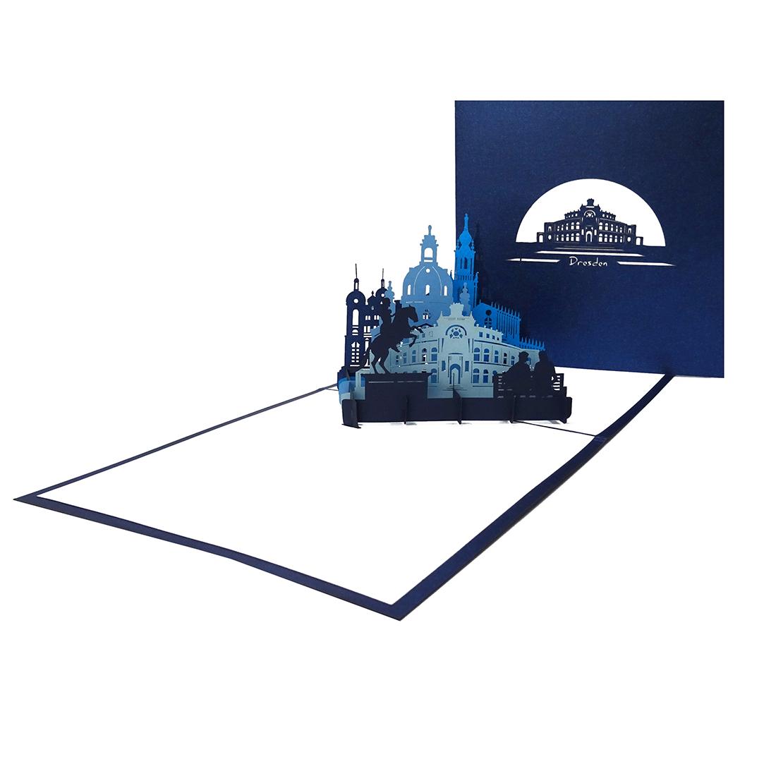 "Pop Up Karte ""Dresden"" - Souvenir, Geburtstagskarte. Grusskarte"