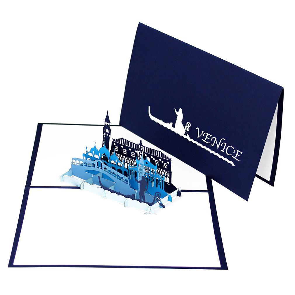 """Pop Up Karte """"Venedig"""" - Geldgeschenk, Reisegutschein, Einladungskarte"""