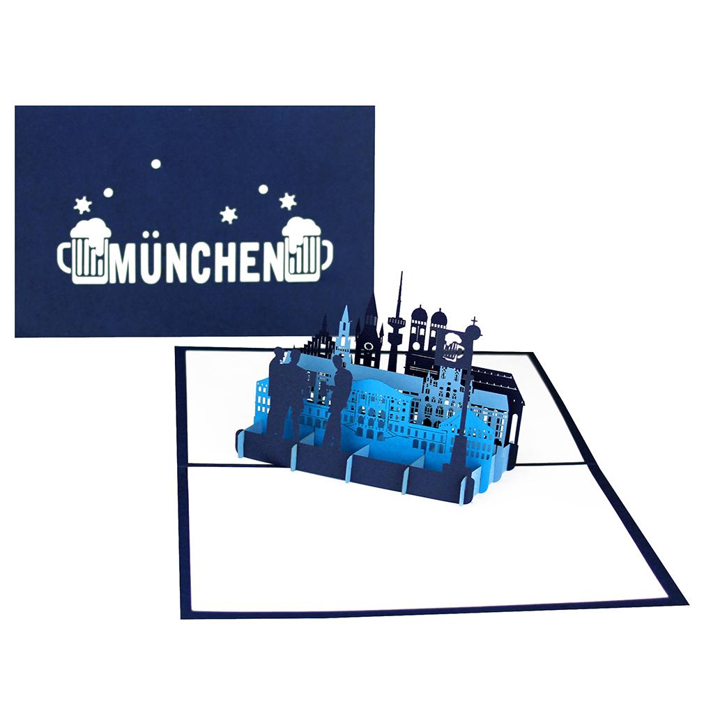 """Pop-Up Karte """"München"""" - Grußkarte, Gutschein zum Oktoberfest"""