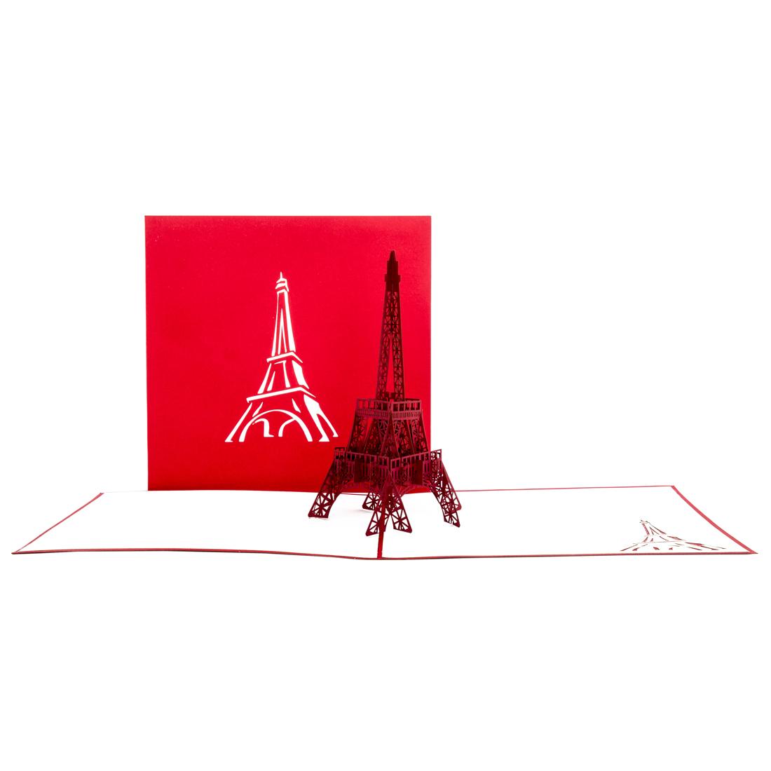 """Pop Up Karte """"Paris - Eiffelturm"""" - Glückwunschkarte, Reisegutschein nach Frankreich"""