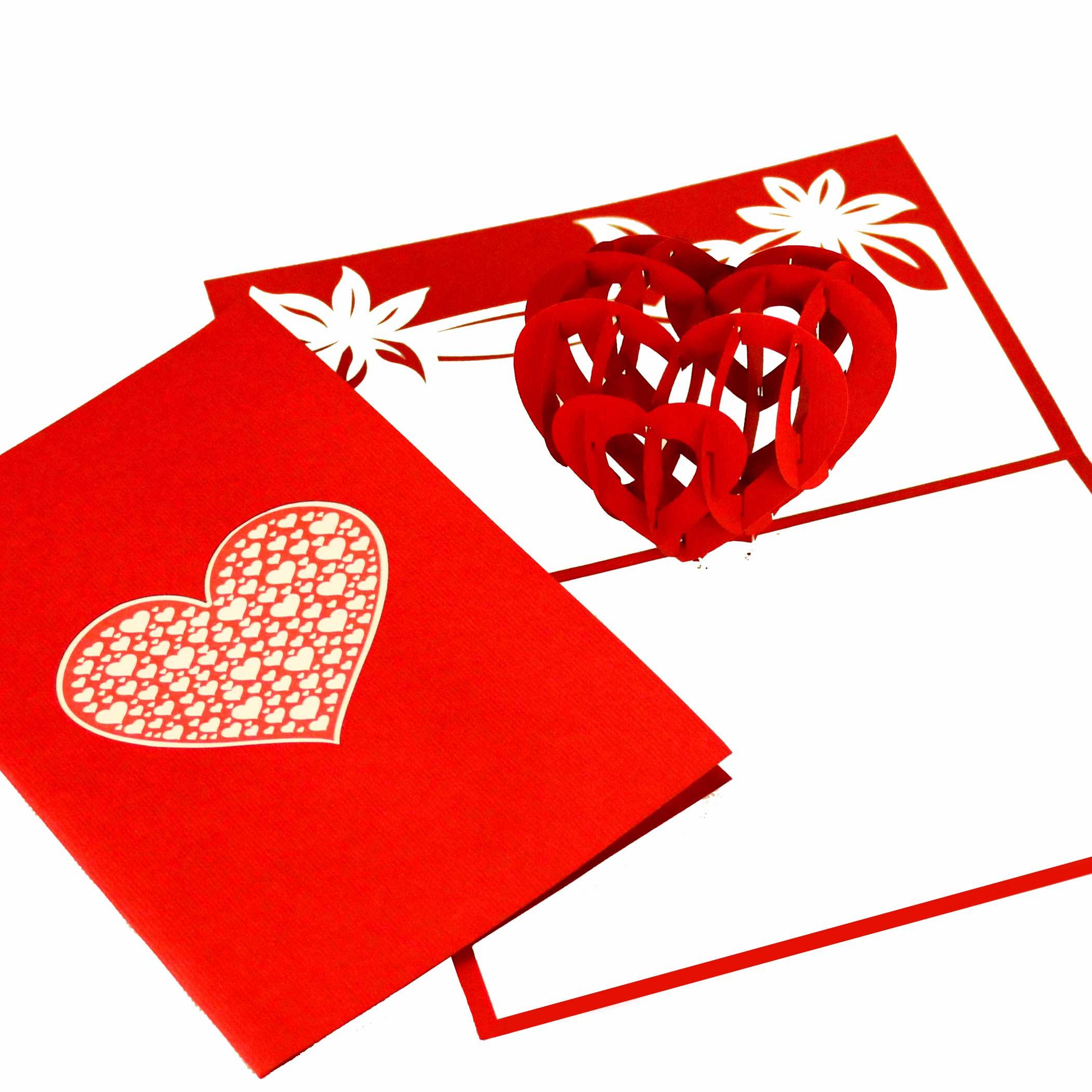 """Pop Up Karte """"Herz der Liebe"""" - Hochzeitseinladung, Hochzeitskarte, Glückwunschkarte"""