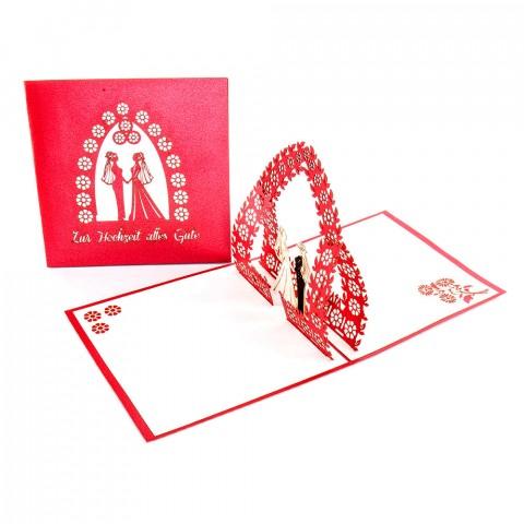"""3D Hochzeitskarte """"Lesbian Wedding"""" - Glückwunschkarte zur Regenbogenhochzeit"""