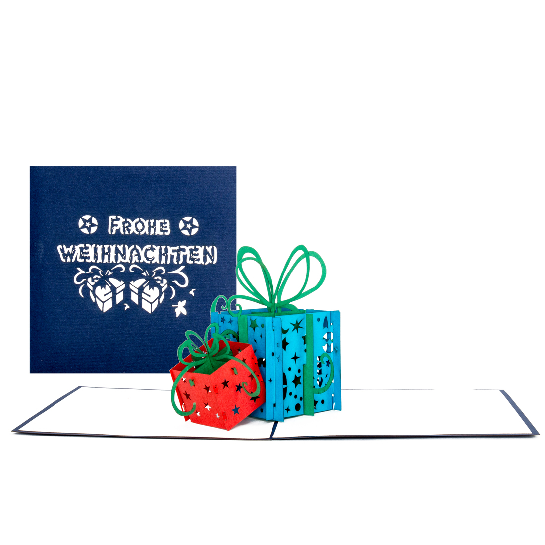 """3D Karte zu Weihnachten - Weihnachtskarte """"Geschenke"""" mit Umschlag"""