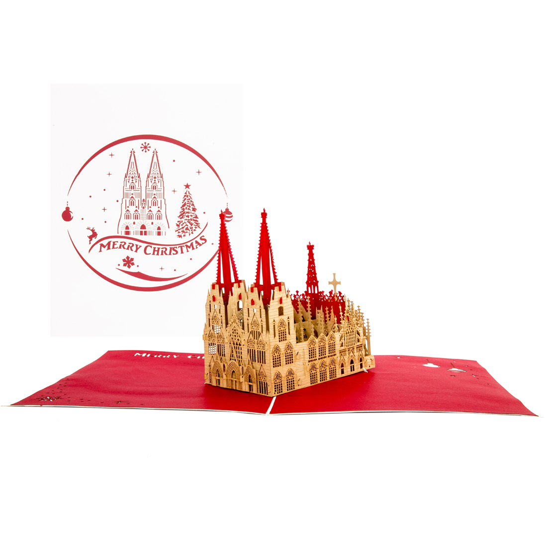 "Kölner Dom ""Merry Christmas"" Rot & Weiss"