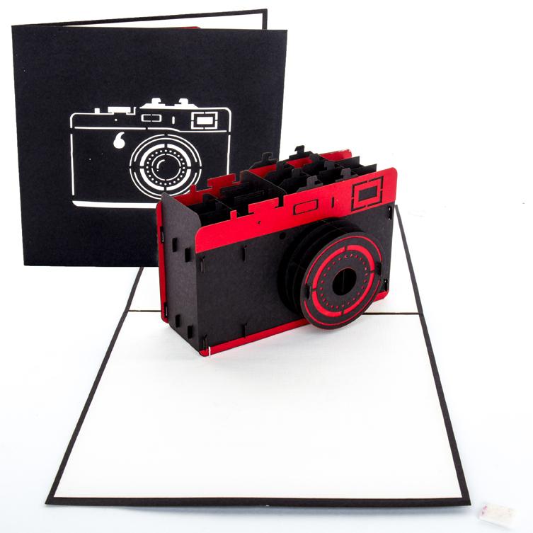 """Pop Up Karte """"Kamera"""" - Grußkarte, Gutschein für Fotoapparat oder Fotoshooting"""