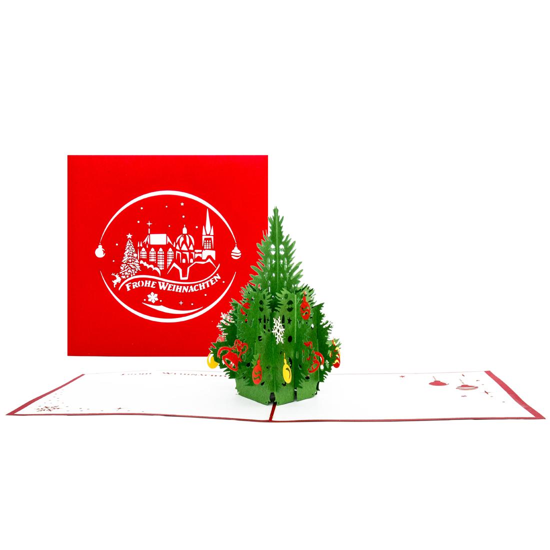"""Pop Up Karte """"Aachen - Christbaum"""" -Weihnachtskarte mit Umschlag"""
