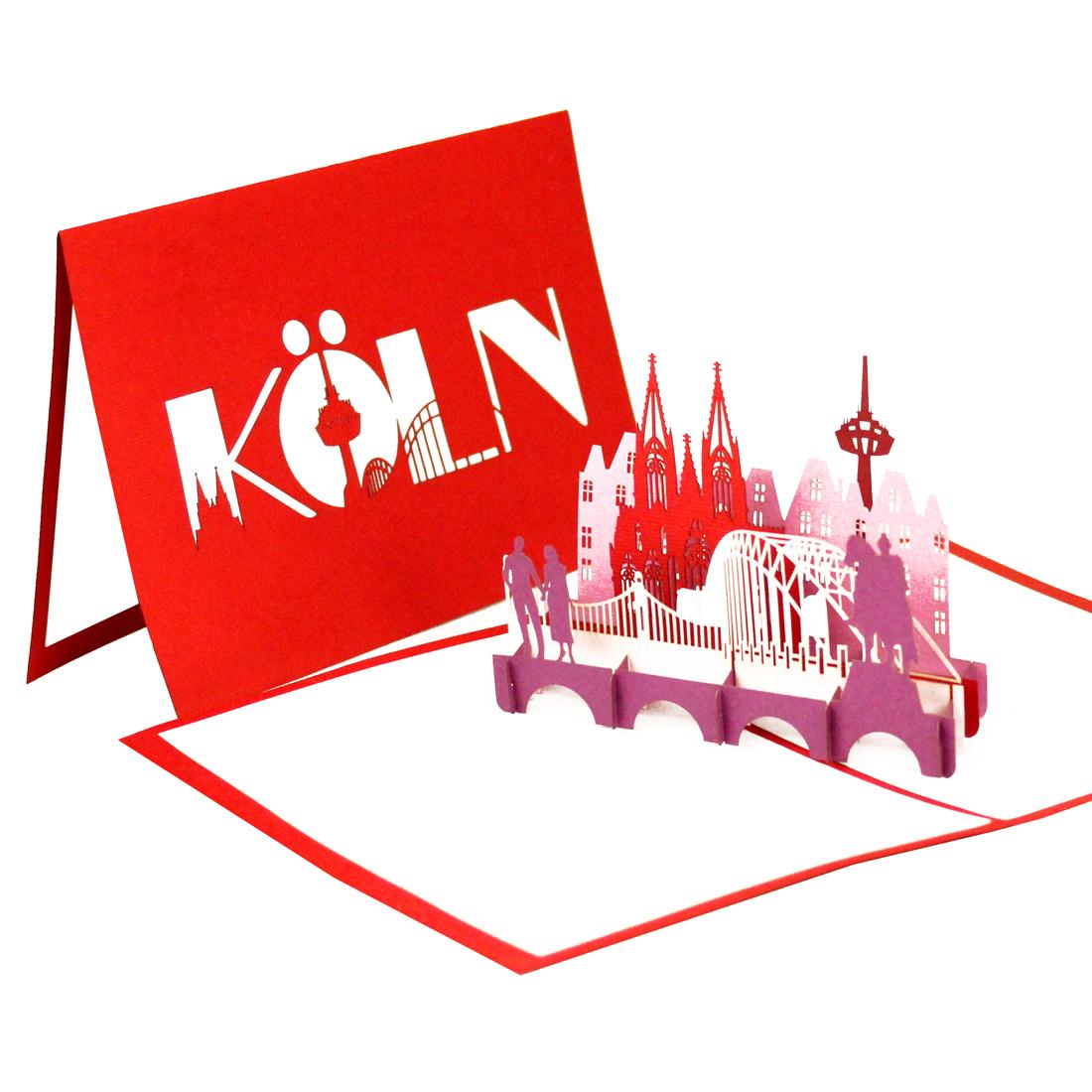 Köln Panorama - Rot
