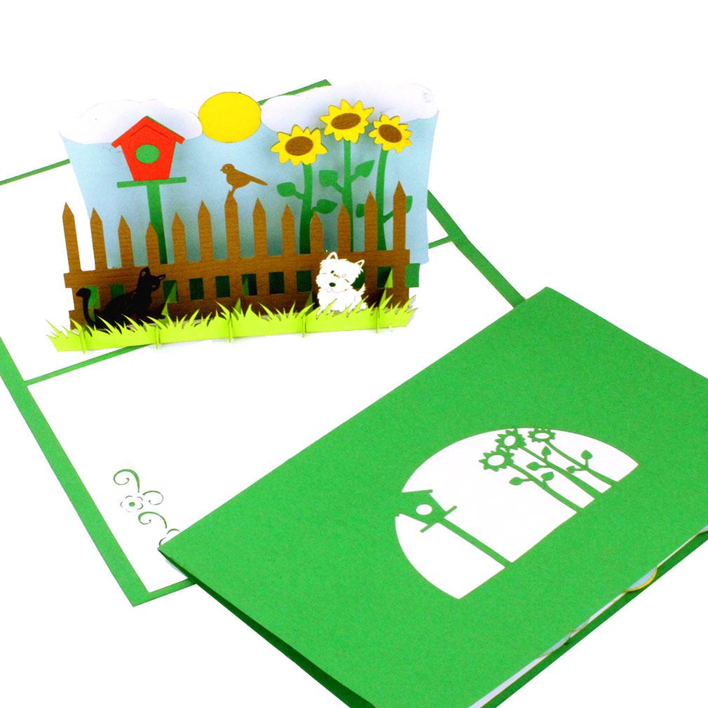 """3D Karte """"My little garden"""" - Glückwunschkarte, Gutschein & Einladung zum Gartenfest"""