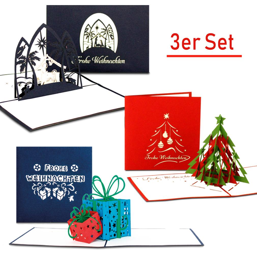 Weihnachtskarten-Set gemischt