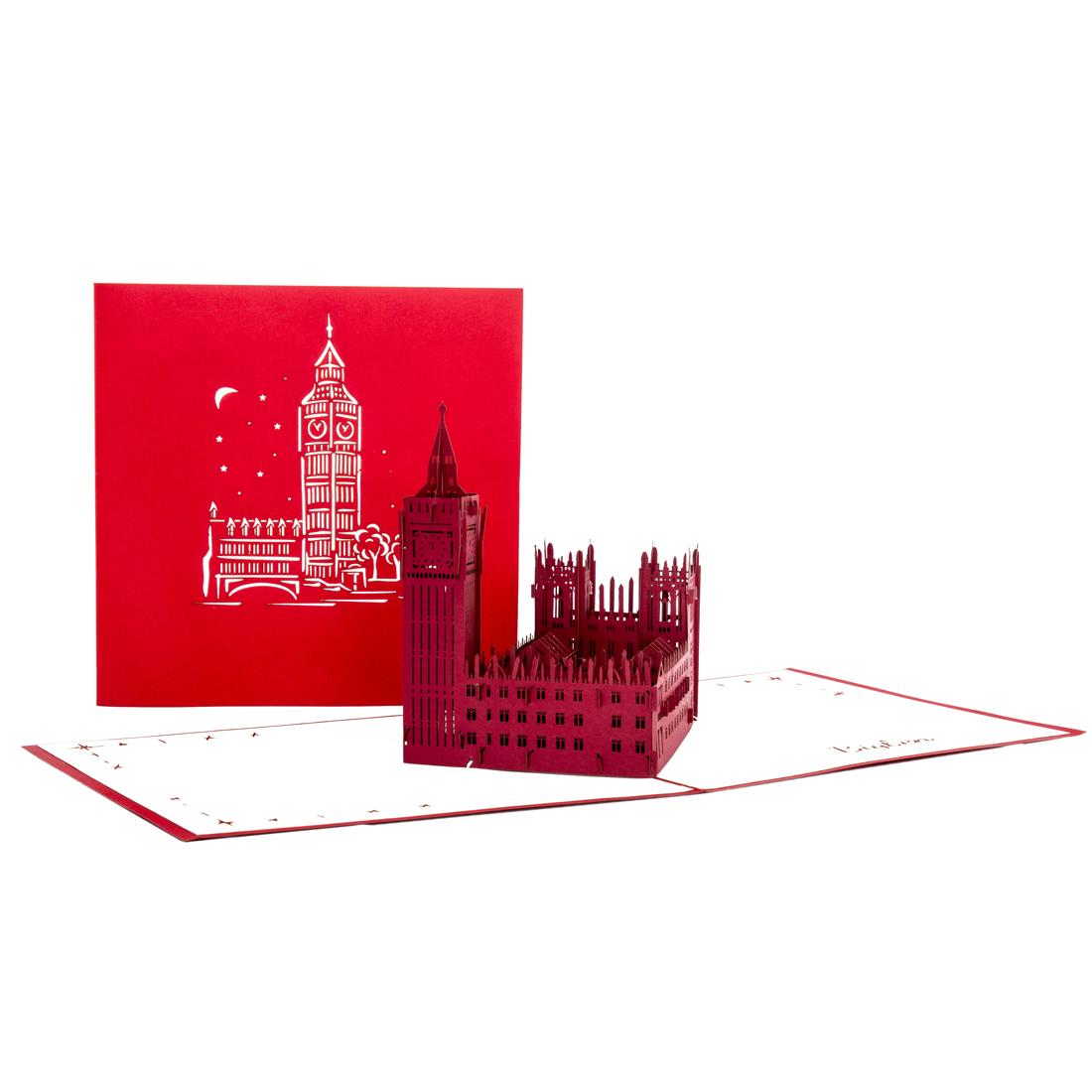 """Pop Up Karte """"London - Big Ben"""" - Geburtstagskarte, Reisegutschein oder Geldgeschenk"""