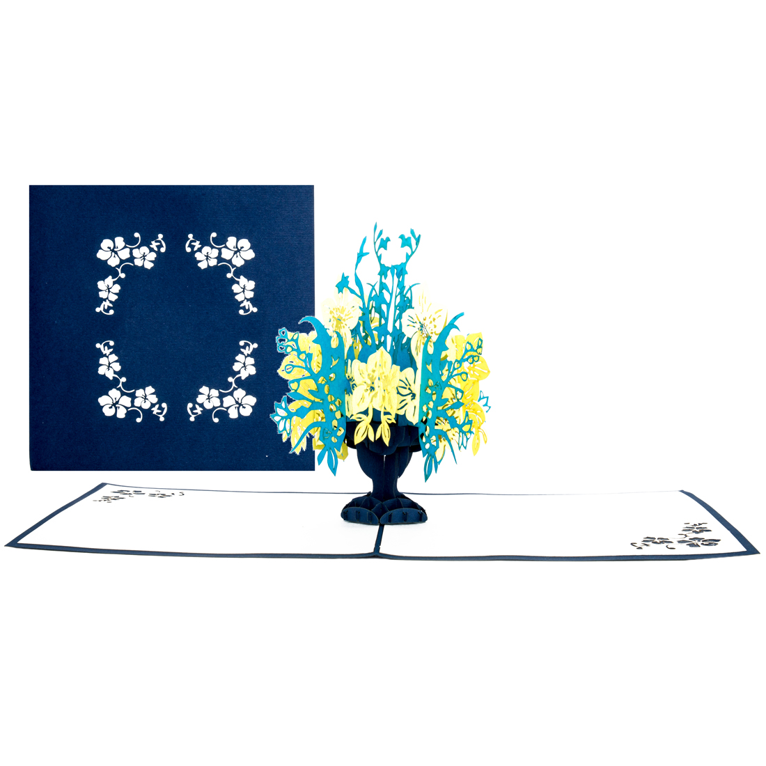 """Pop Up Karte """"Blumen""""- Genesungskarte, Glückwunschkarte mit Umschlag"""