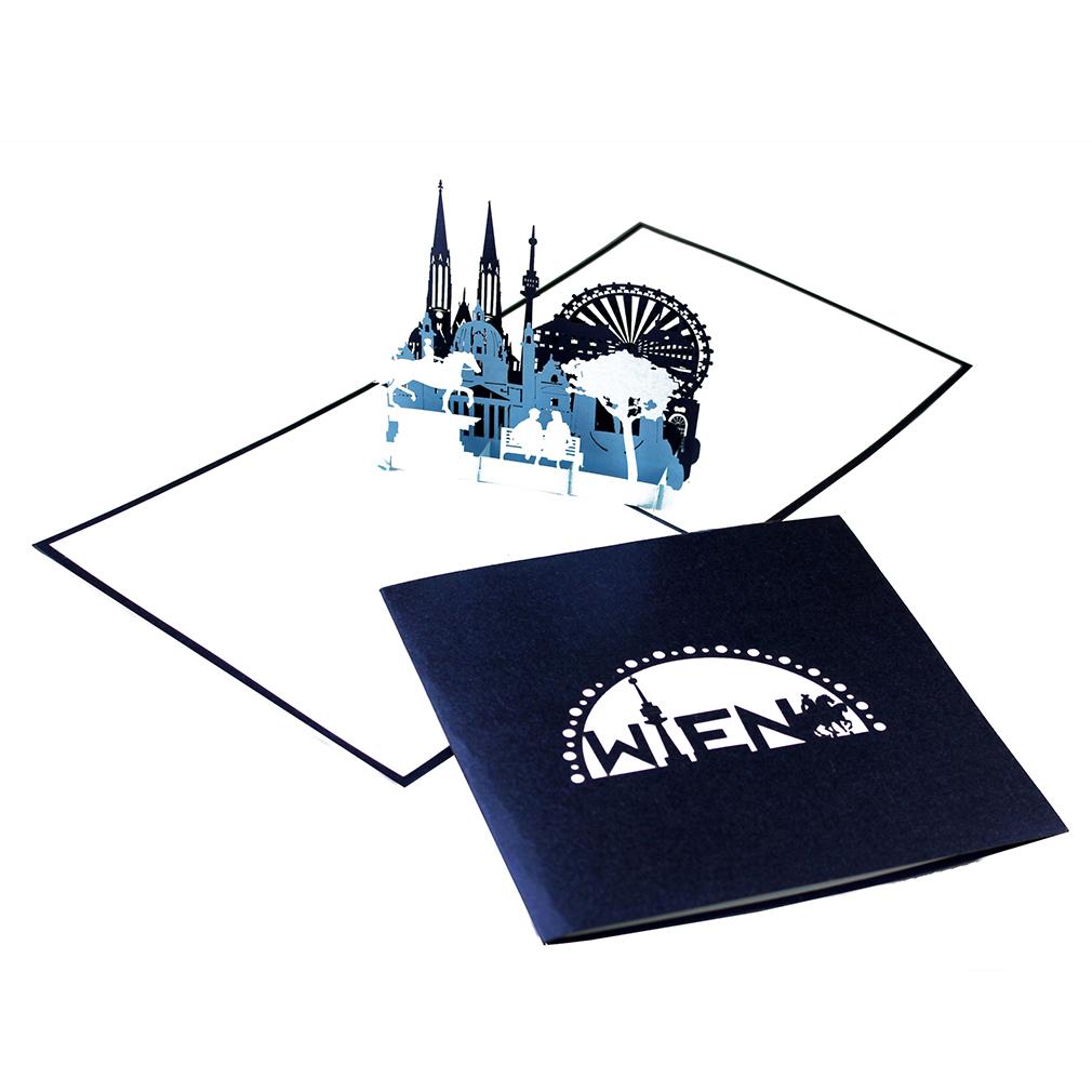 """Pop Up Karte """"Wien"""" - Grußkarte, Reisegutschein, Geburtstagskarte"""