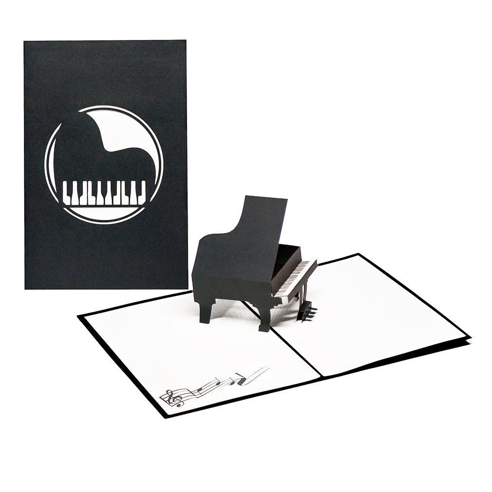 """Pop Up Karte """"Piano"""" - Geburtstagskarte, Gutschein für Klavierunterricht"""