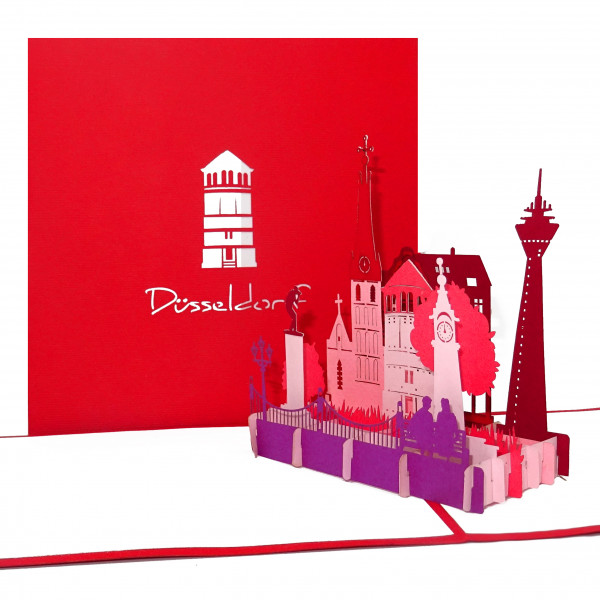 3D Pop-Up Karte Dusseldorf Panorama