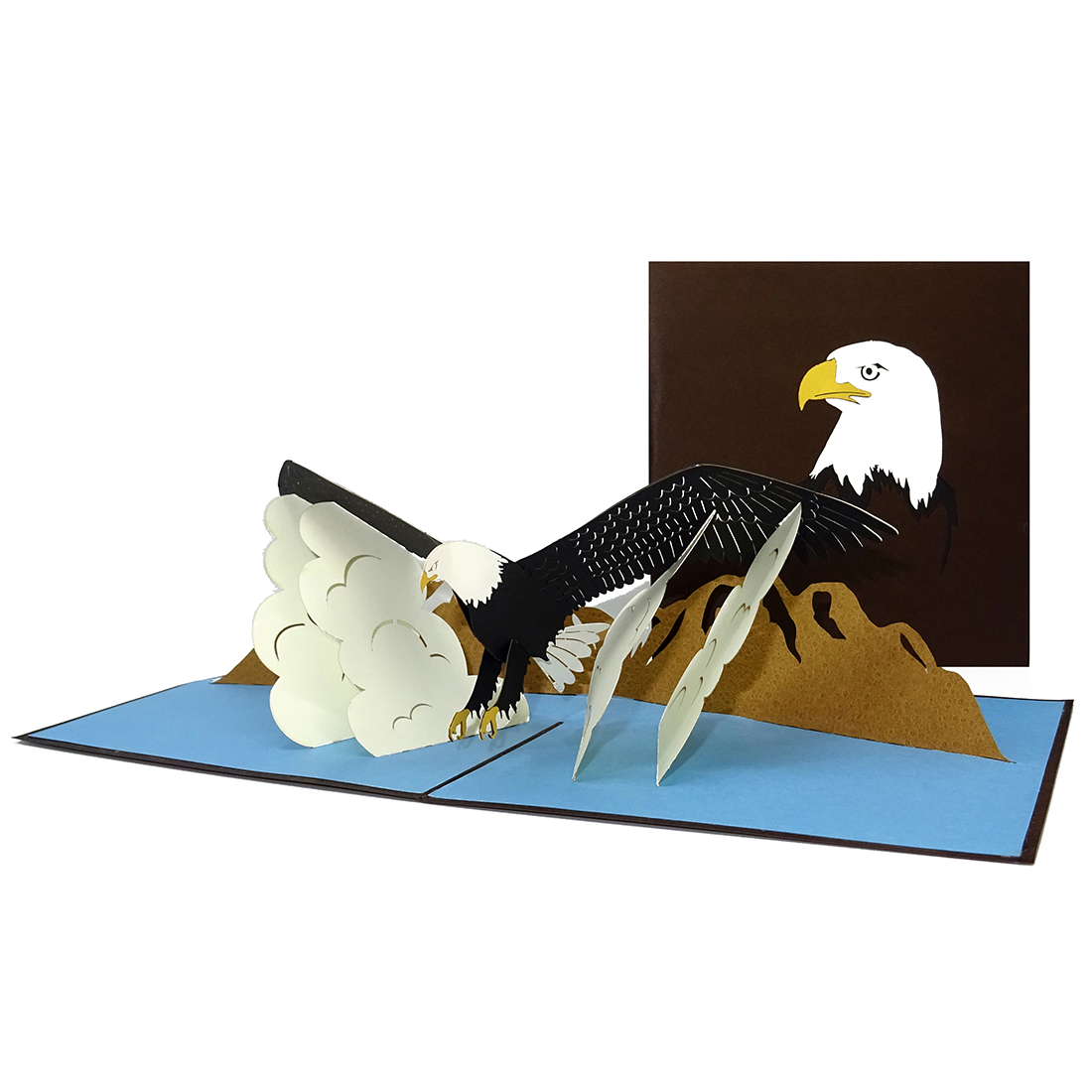 "Pop Up Karte ""Adler - Eagle's Wings"" - Grusskarte, 3D Geburtstagskarte"