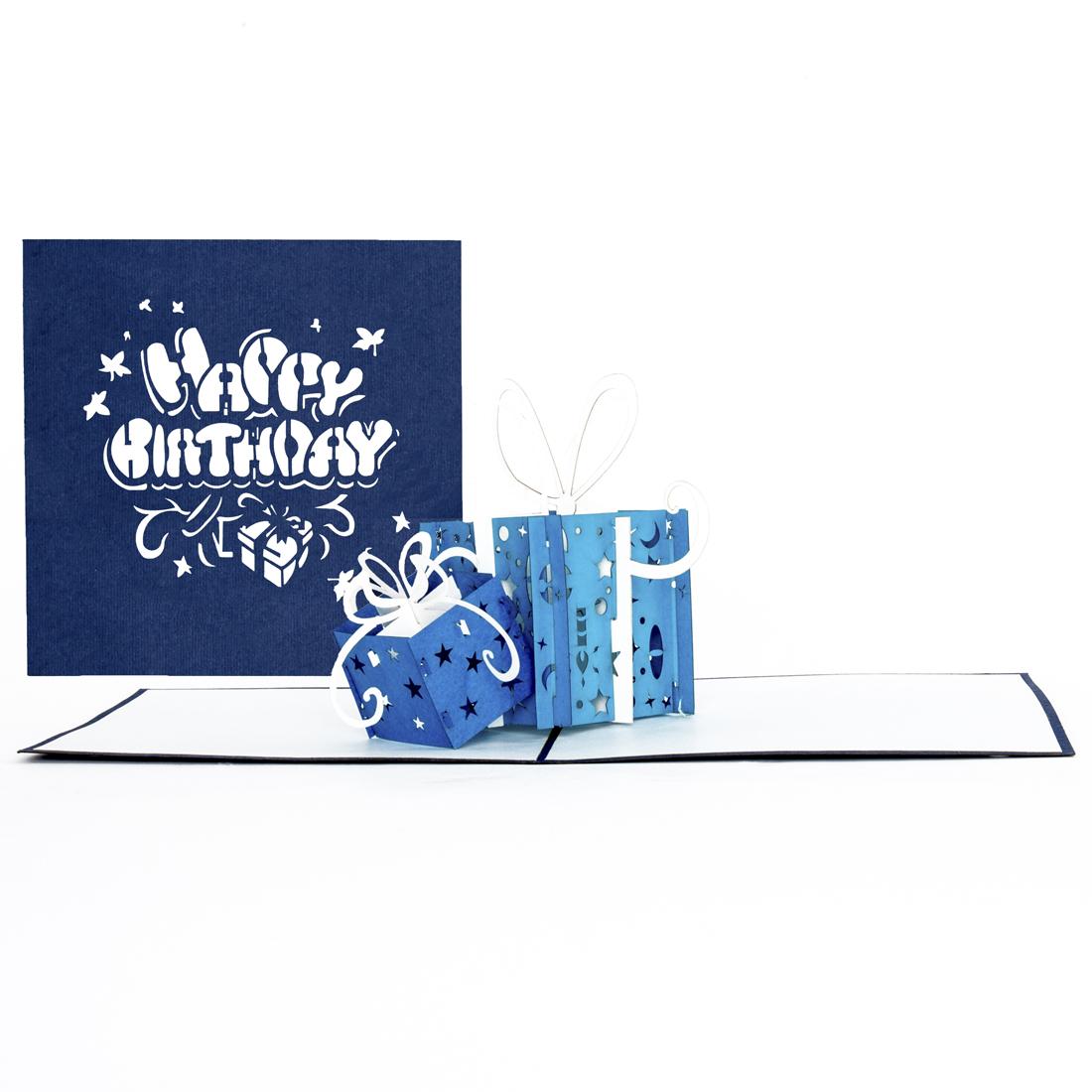 """Pop Up Karte """"Teddy"""" - Geburtstagskarte, Grußkarte mit Umschlag"""