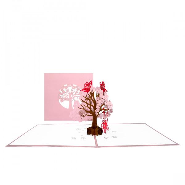 """Pop Up Karte """"Butterflies in Love"""" - romantische Hochzeitskarte, Valentinskarte, Karte zum Jahrestag"""