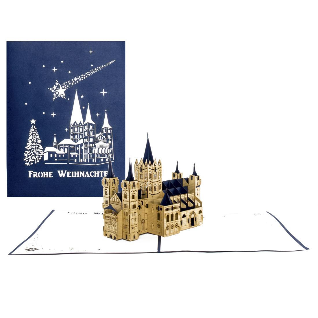 Bonner Münster - Weihnachten Blau