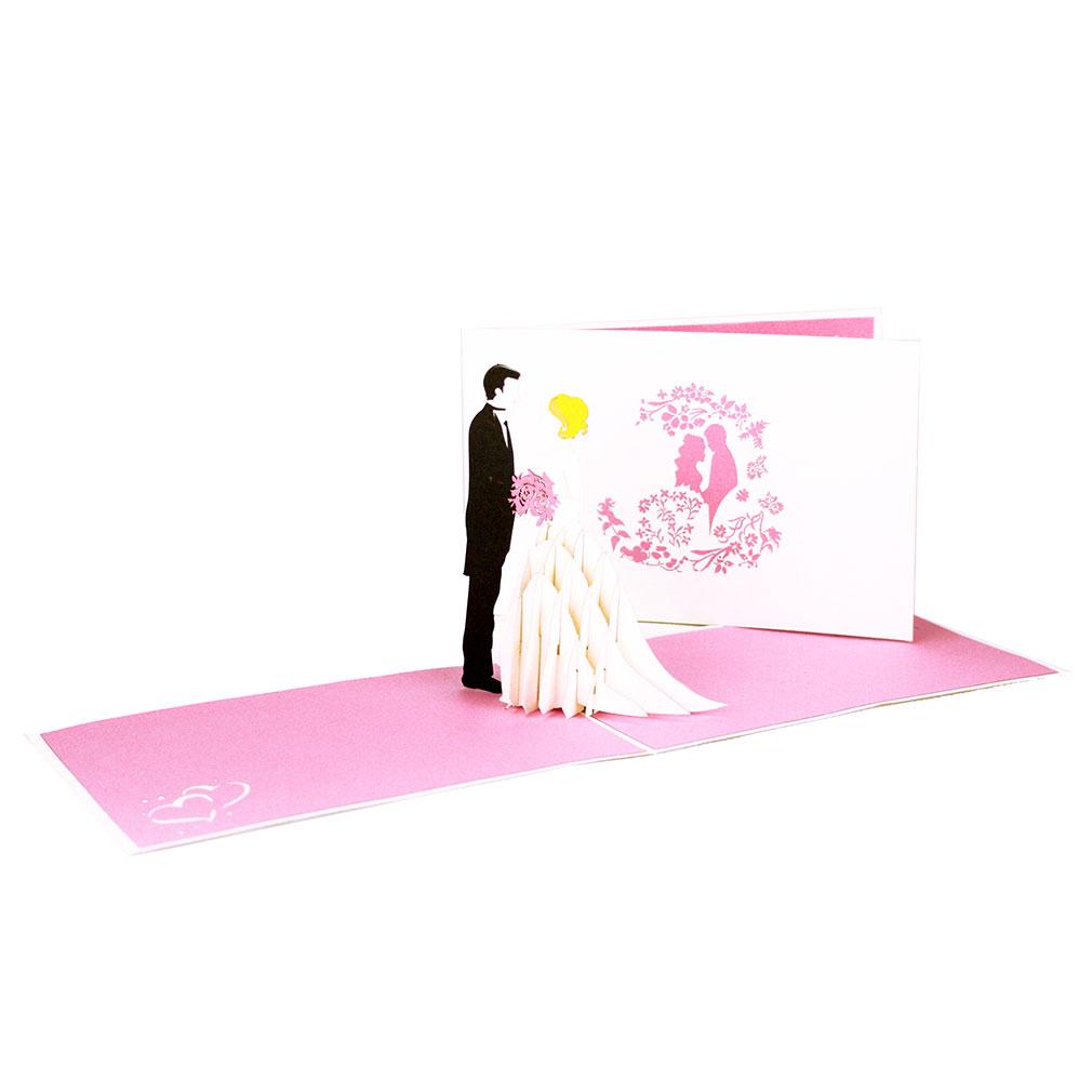 """Pop Up Karte """"Brautpaar"""" - Glückwunschkarte, Hochzeitskarte"""