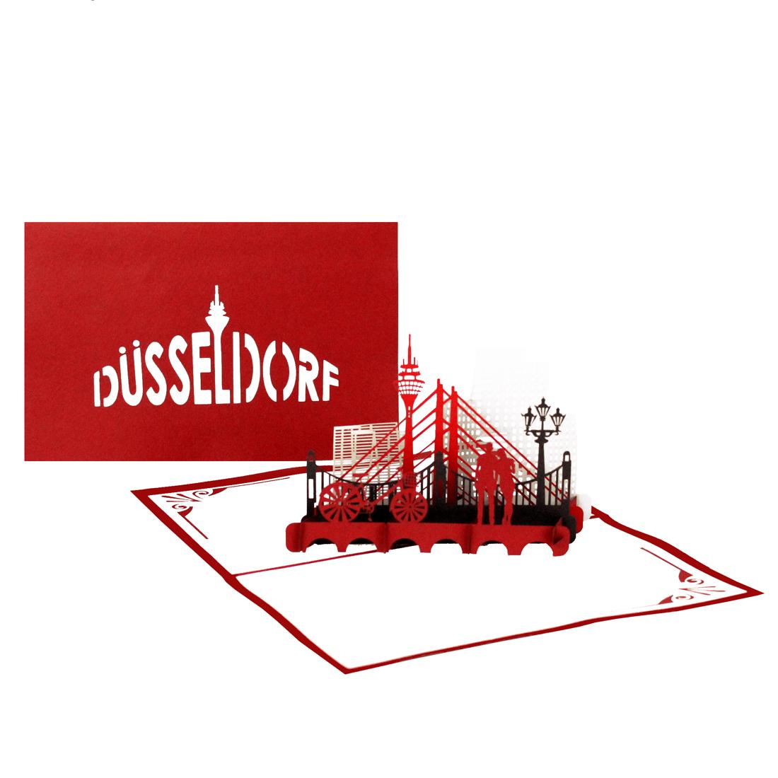 """Pop Up Karte """"Düsseldorf"""" - Geburtstagskarte, Gutschein, Grußkarte"""