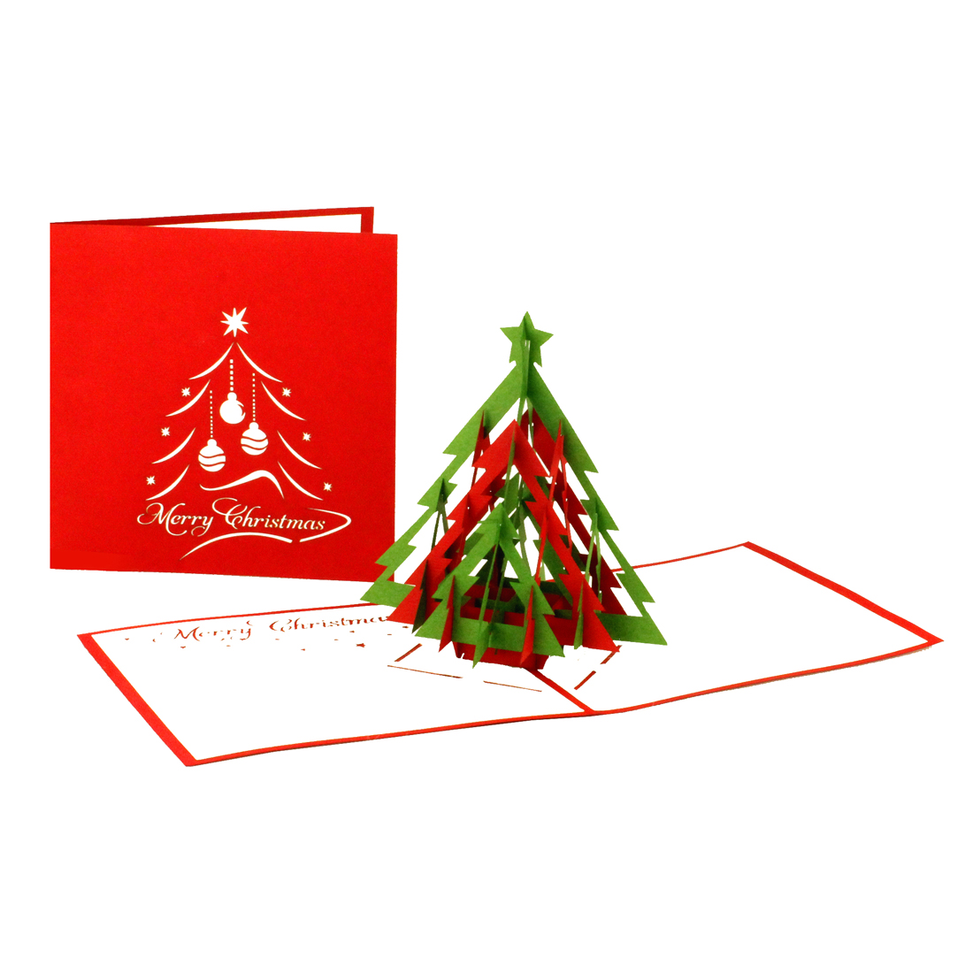 Christmas Tree | Modern - Red