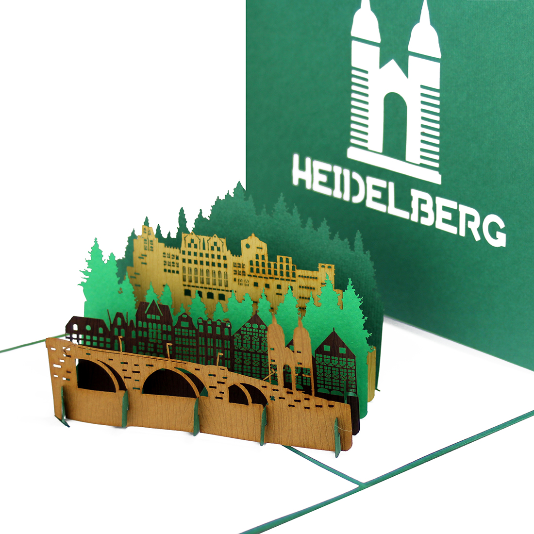 "Pop Up Karte ""Heidelberg"" - Souvenir, Geburtstagskarte. Grusskarte"