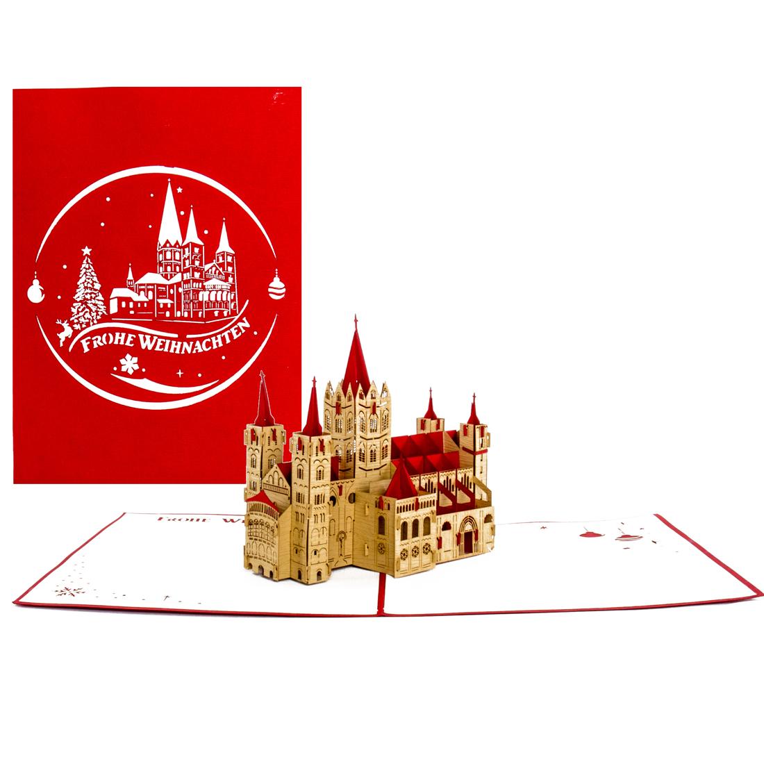 """Pop Up Karte """"Bonn - Bonner Münster"""" - Weihnachtskarte, Geldgeschenk"""