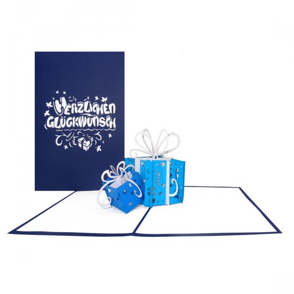 """Pop Up Geburtstagskarte """"Geschenke"""" - Glückwunschkarte zum Geburtstag"""