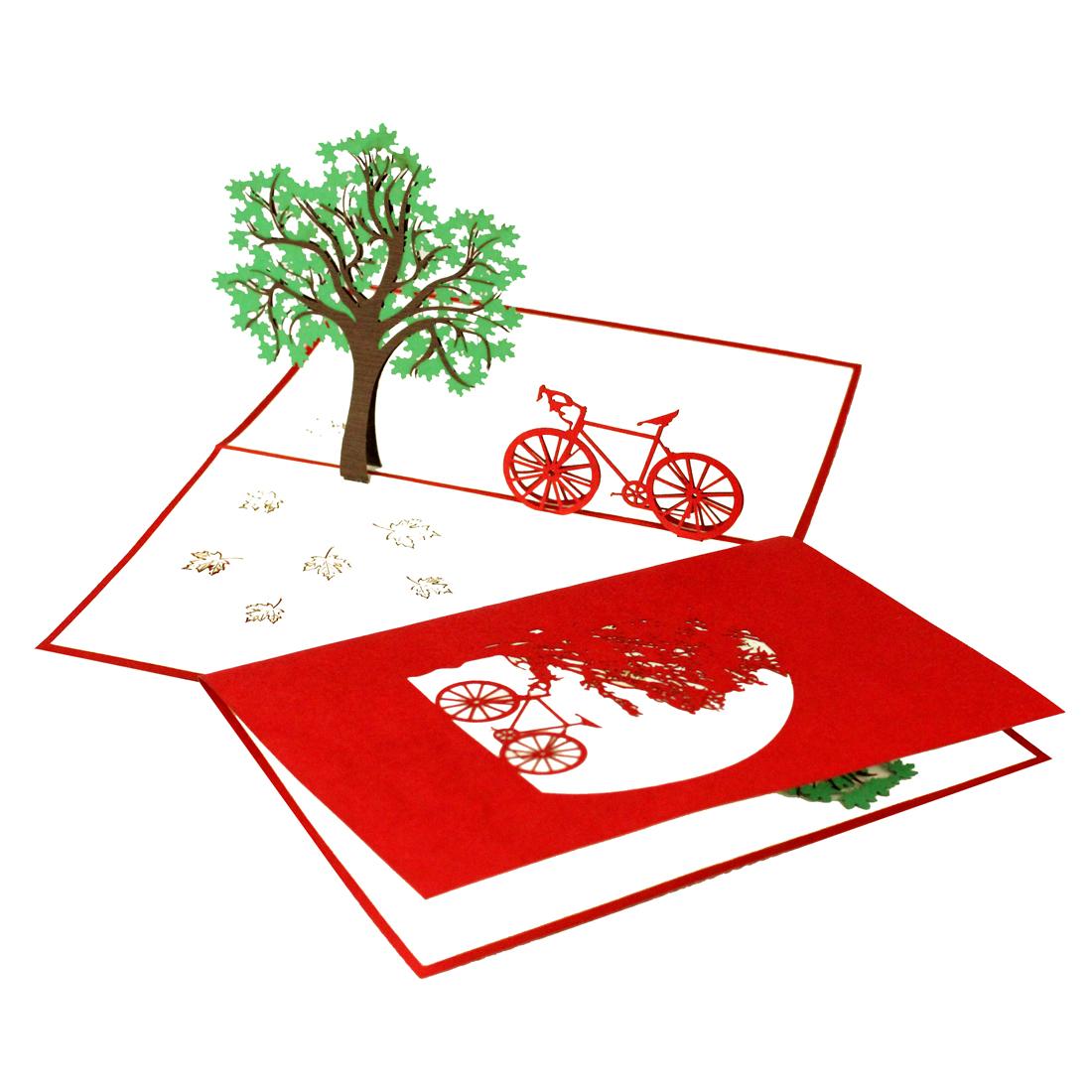 """Pop Up Karte """"Fahrradtour"""" - Gutschein, Geschenkkarte"""