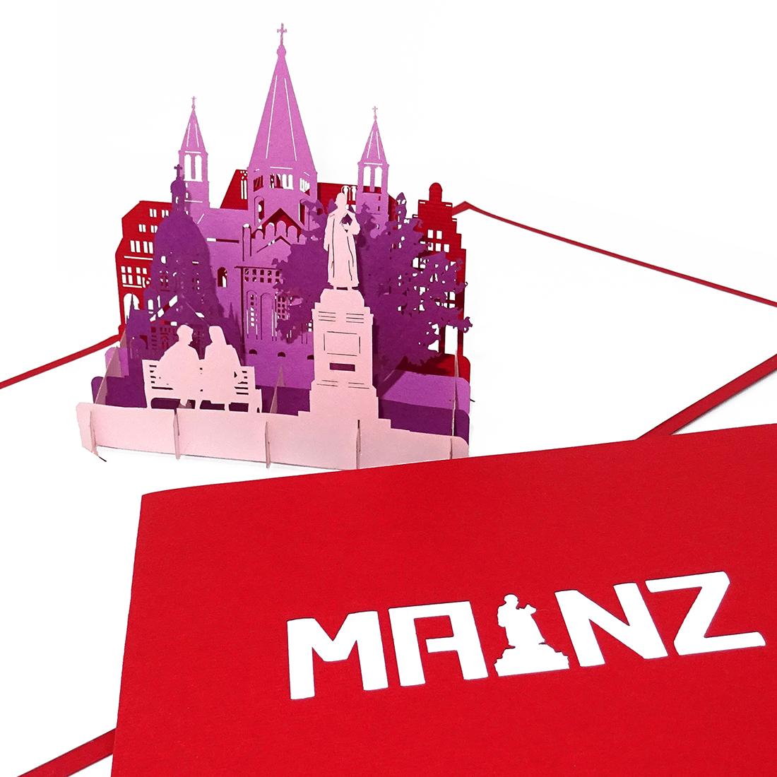 "Pop Up Karte ""Mainz""- Souvenir, Grusskarte, Geburtstagskarte"