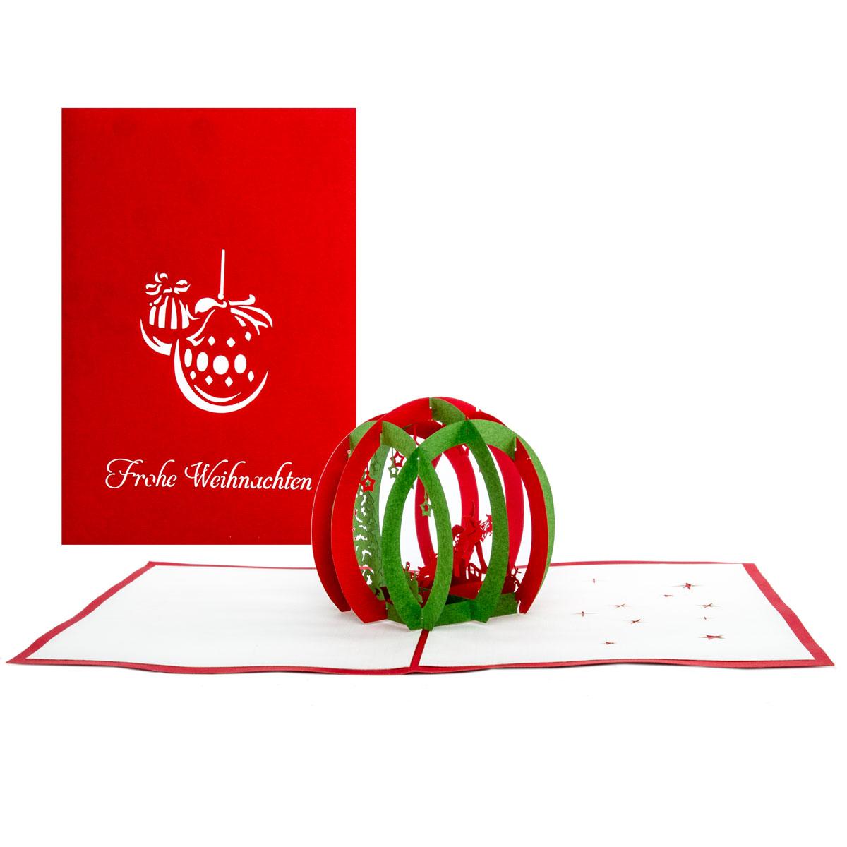 """3D Weihnachtskarte """"Santa"""" - Karte zu Weihnachten, Gutscheinkarte"""