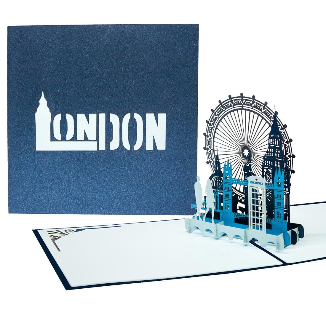 """Pop Up Karte """"London Calling"""" - Geburtstagskarte, Gutschein für die Städtereise"""