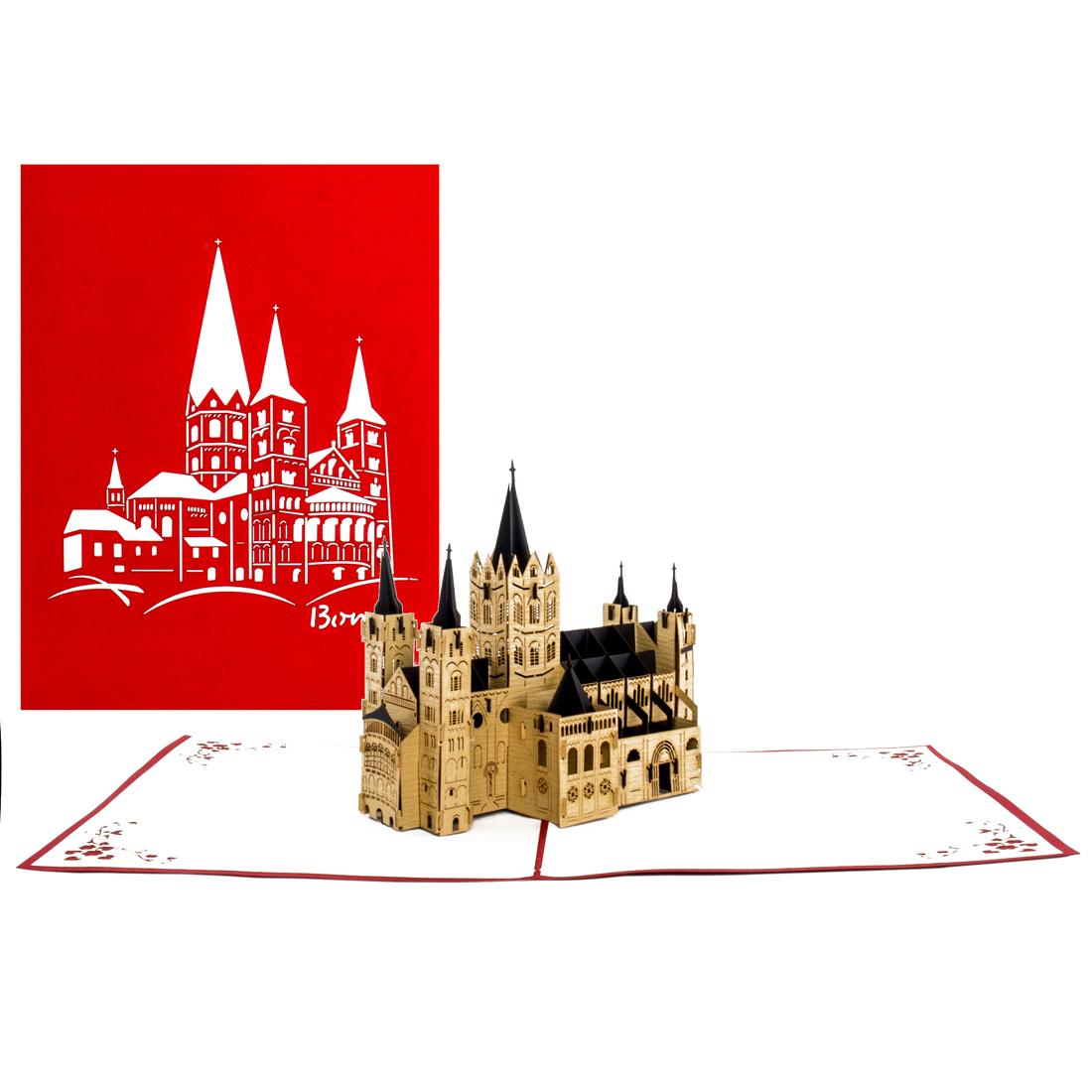 "Pop Up Karte ""Bonner Münster"" - Grußkarte, Bonn Souvenir"