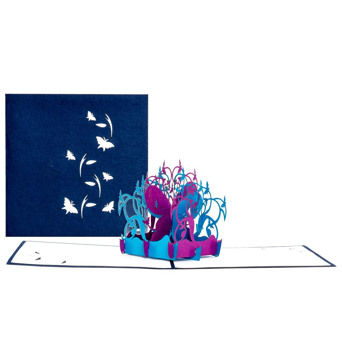 """3D Glückwunschkarte """"Schmetterlinge"""" - Geburtstagskarte, Geschenkgutschein"""