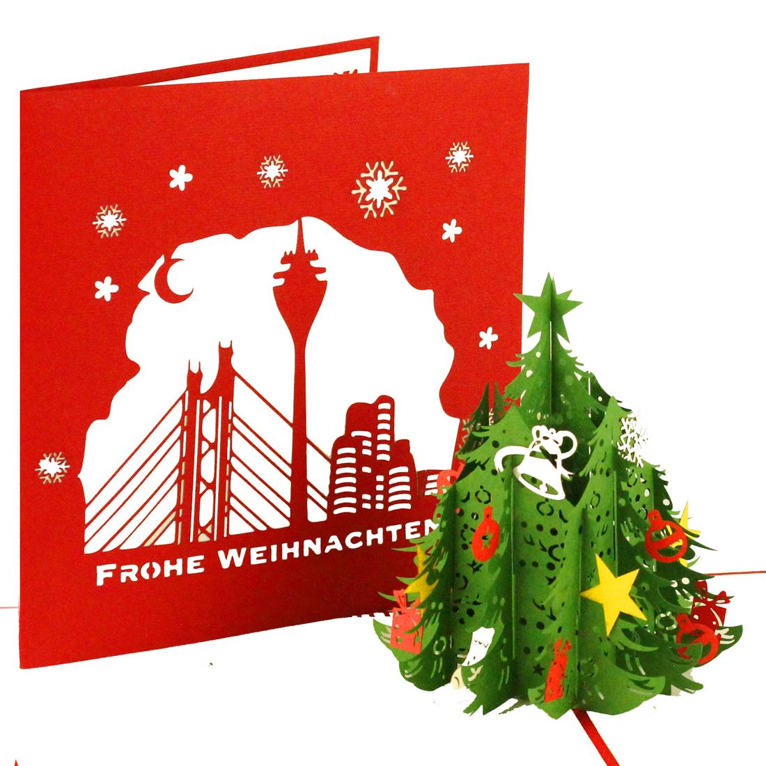 Pop Up Weihnachtskarte Tannenbaum | Düsseldorf