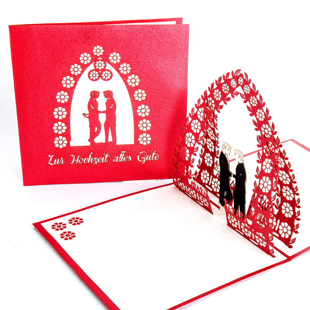 "3D Hochzeitskarte ""Gay Wedding"""