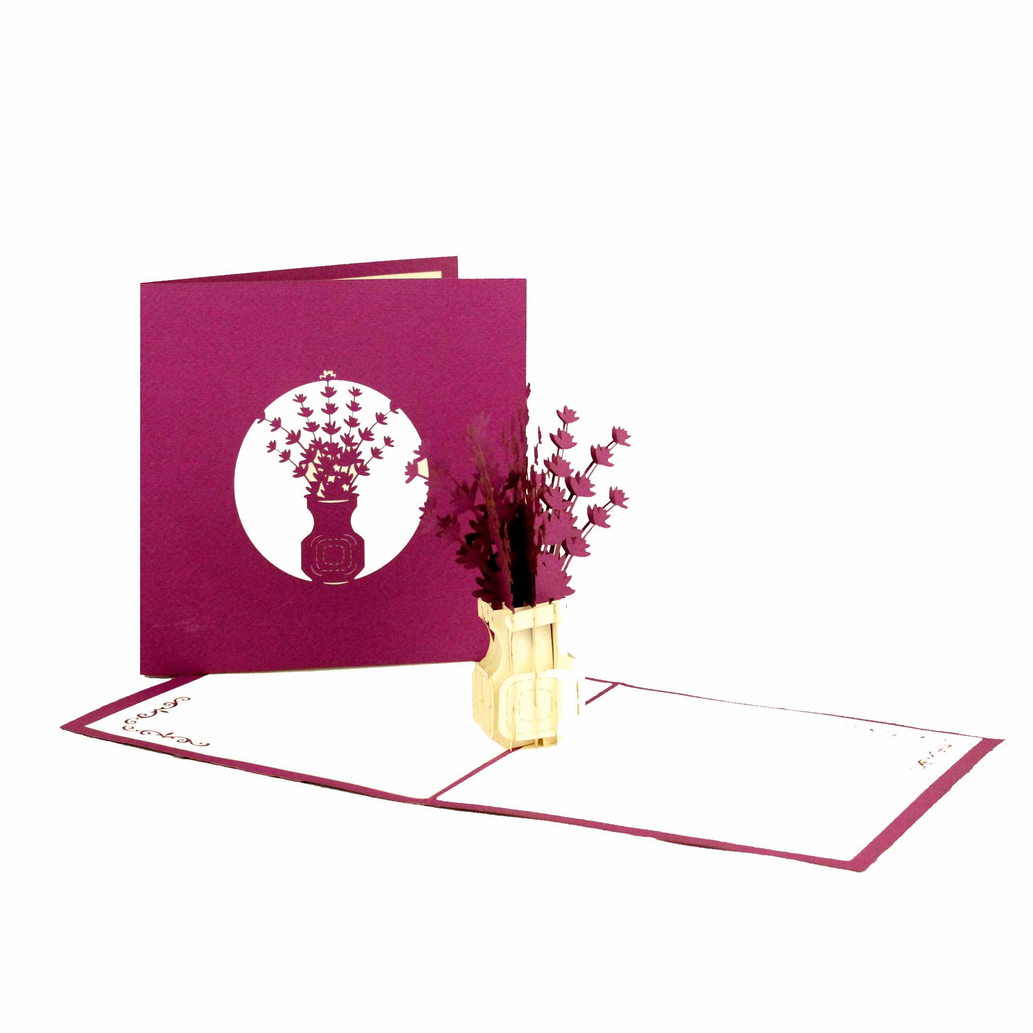 "Pop Up Karte ""Flieder"" - Blumengruß, Dankeskarte, Geburtstagskarte"