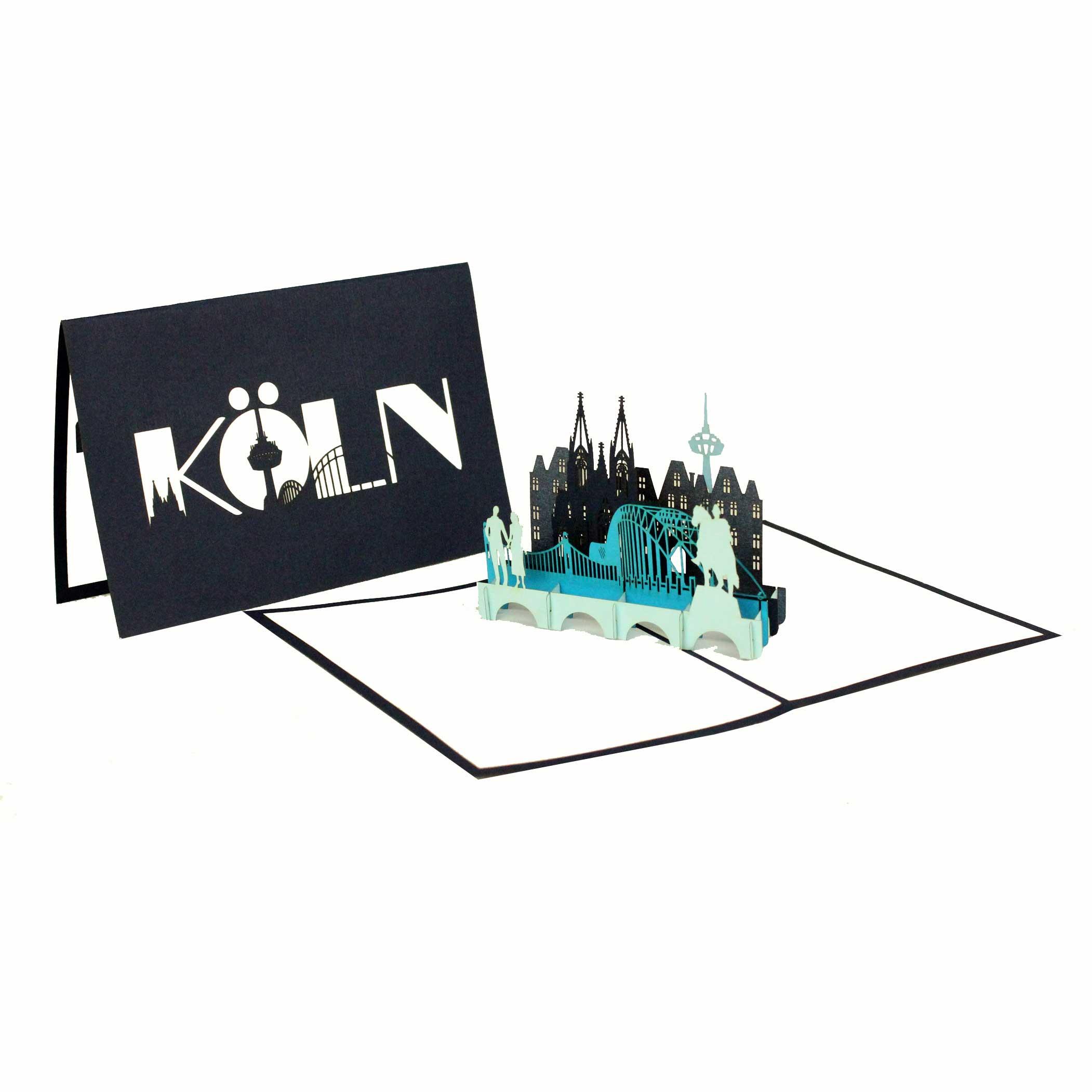 Köln Panorama - Blau