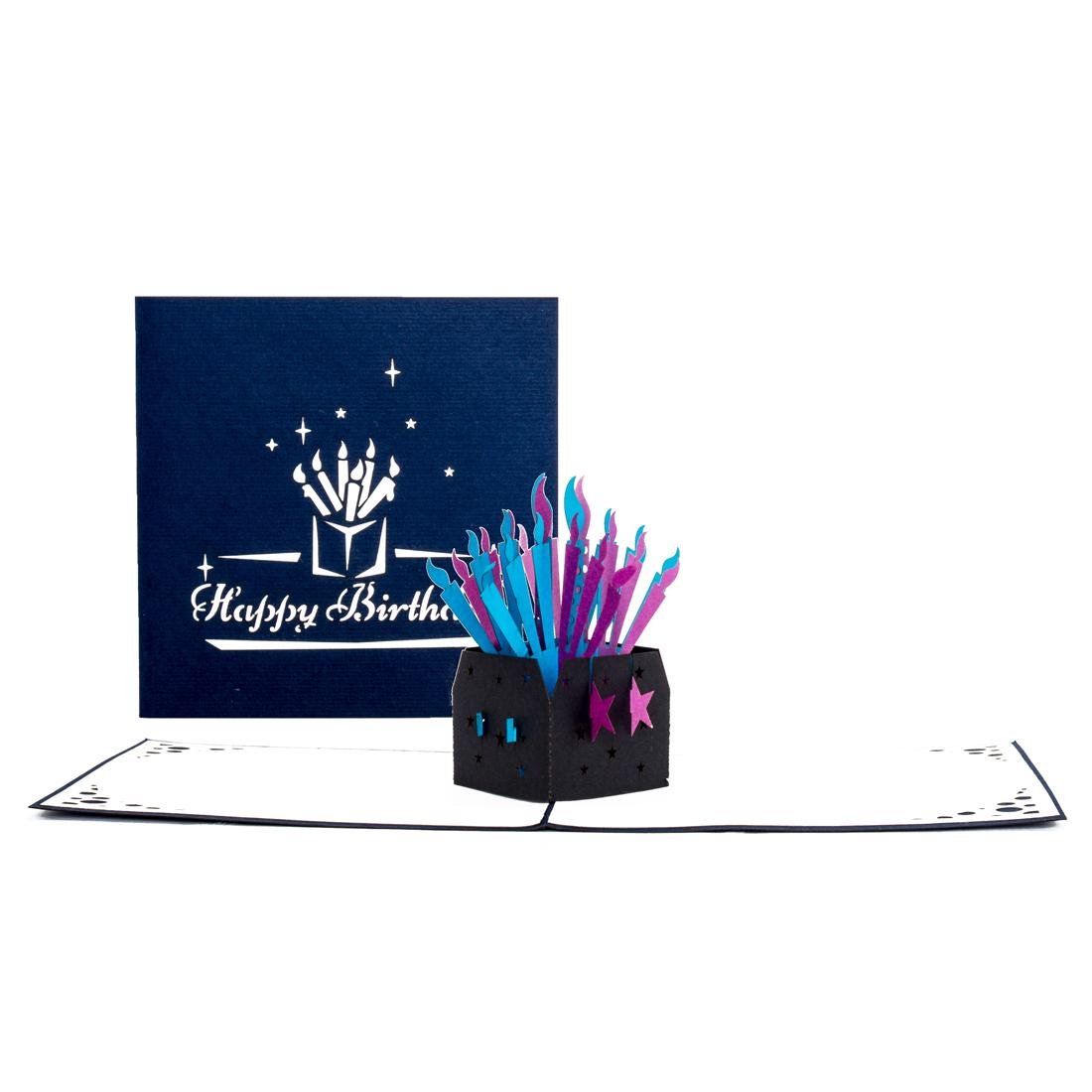"""Pop Up Geburtstagskarte """"Kerzen"""" - 3D Karte zum Geburtstag"""