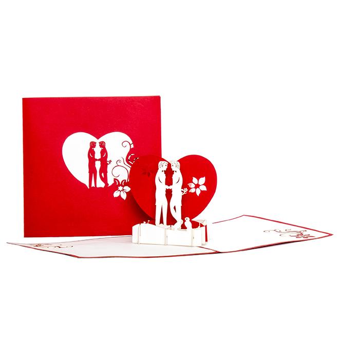 "Pop Up Karte ""Boys in Love"" - Gay Valentin, Valentingskarte, Liebesgru0"
