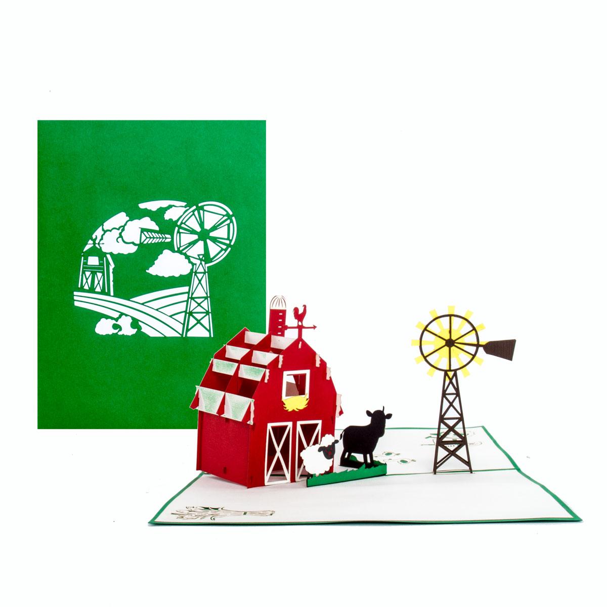 """Pop Up Karte """"Kleine Farm"""" - Gutschein für Urlaub auf dem Bauernhof"""