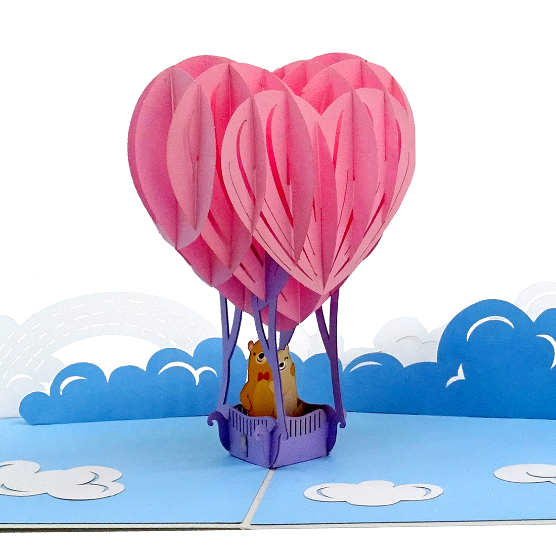 """Pop Up Karte """"Bärenstarke Liebe"""" - Hochzeitskarte, Valentinskarte, Karte zum Jahrestag"""