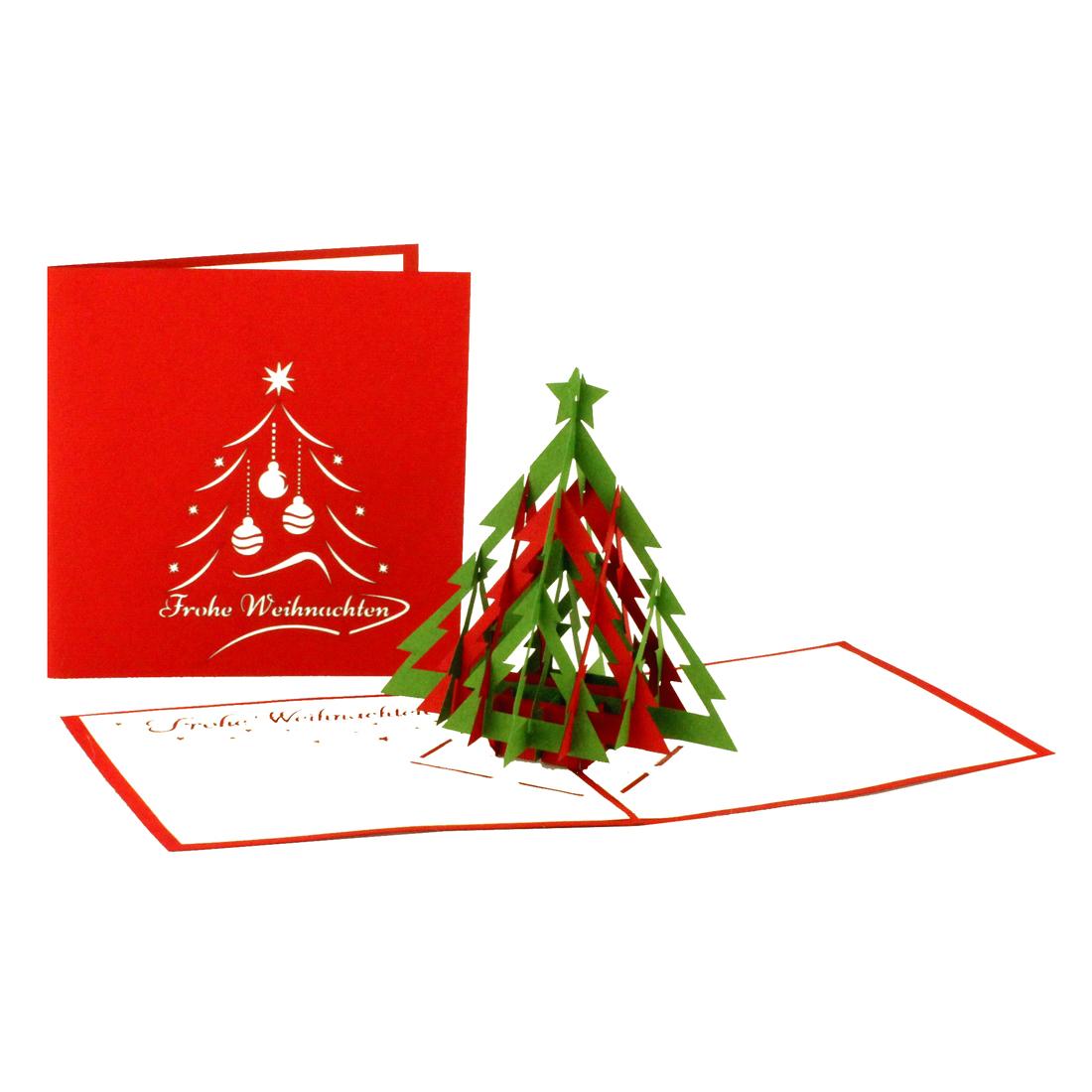 """Pop Up Weihnachtskarte mit Tannenbaum """"Frohe Weihnachten"""""""