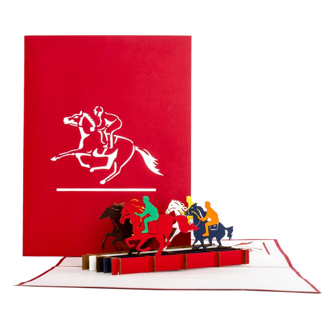 """Pop Up Karte """"Pferde & Reiten"""" - 3D Geburtstagskarte für alle Pferdeliebhaber"""
