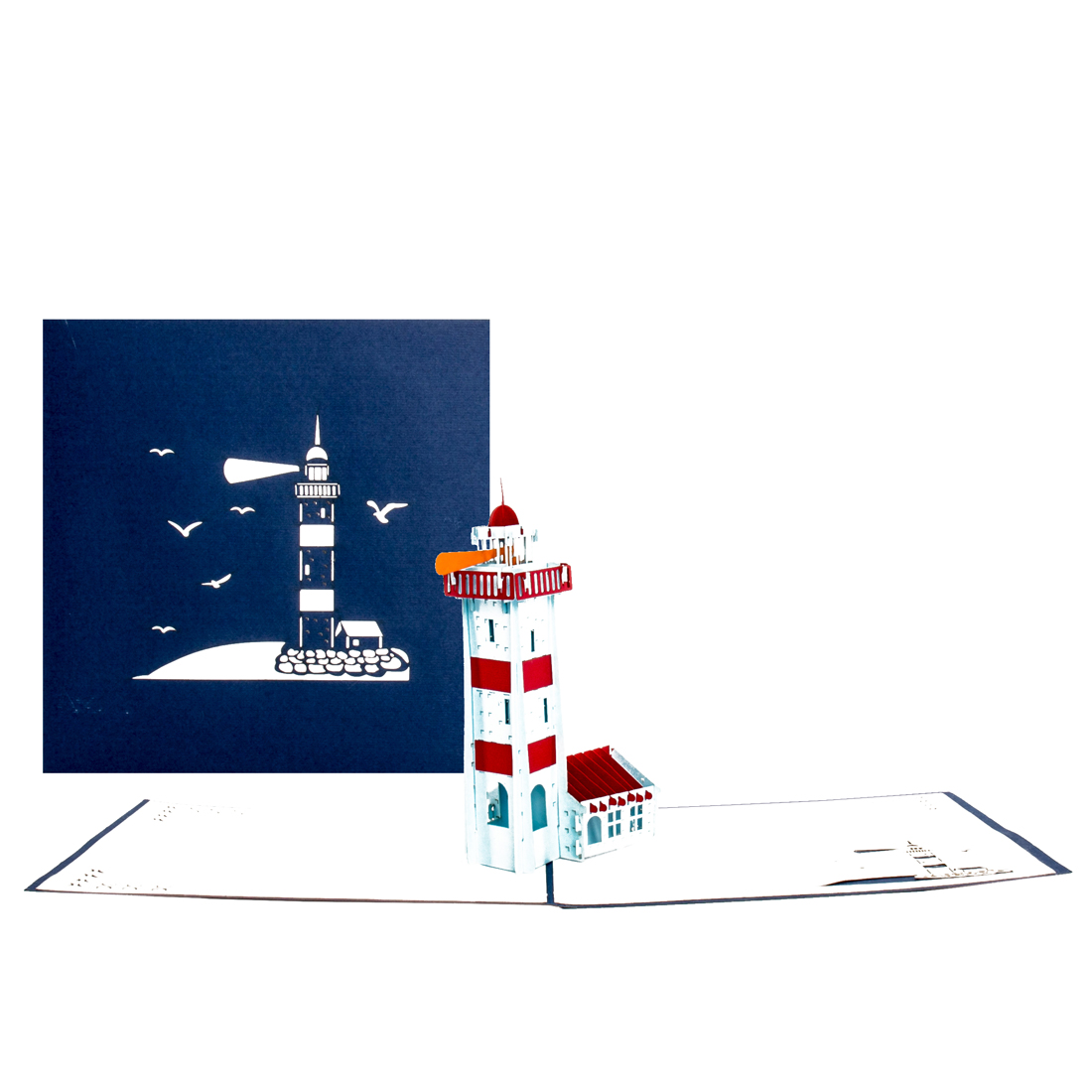 "3D Karte ""Leuchtturm"" - maritime Grußkarte, Geldgeschenk Reisekasse"