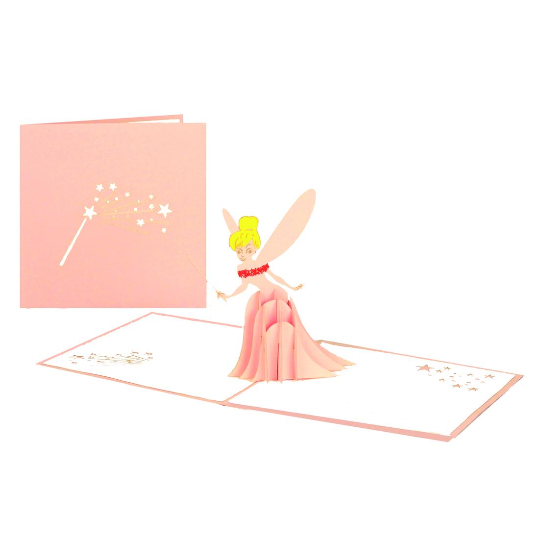 """Pop Up Karte """"Kleine Fee"""" - Karte zum Kindergeburtstag für Mädchen"""