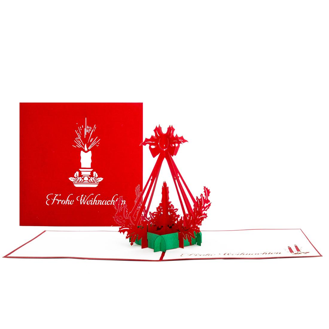 """Pop Up Karte """"Adventskerze"""" - Weihnachtskarte mit Umschlag"""