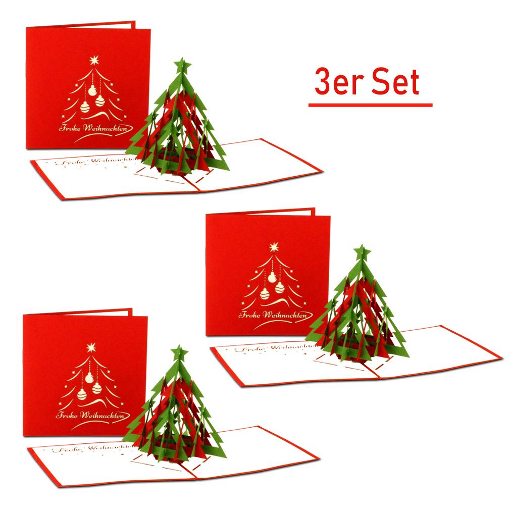 """3er-Set Weihnachtskarte """"Tannenbaum - modern"""""""