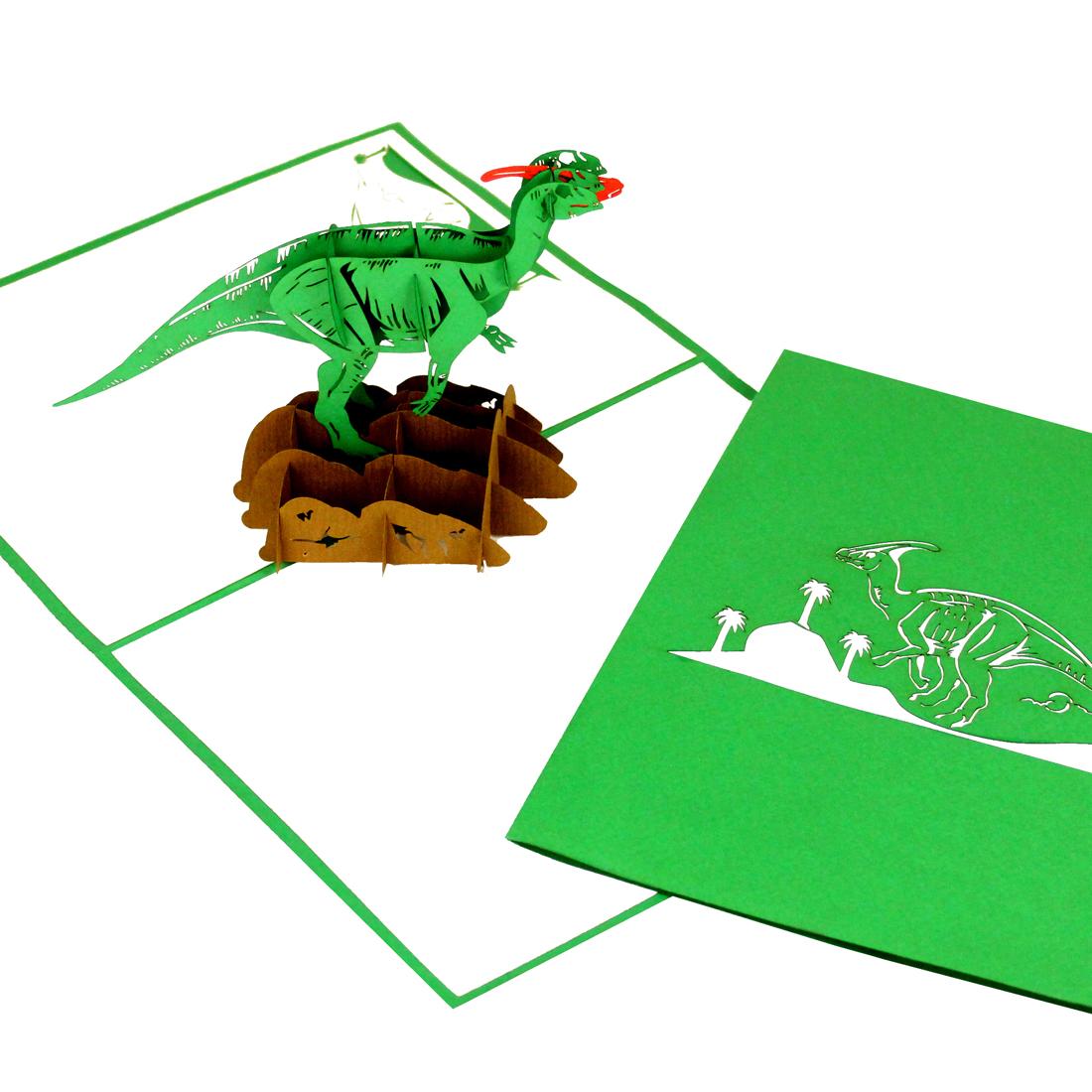 """Pop Up Karte """" Dinosaurier"""" - Geburtstagskarte für Kinder"""
