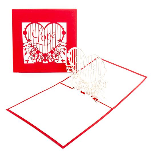 """Pop Up Karte """"Love Heart"""" - Valentinskarte, Liebesgruß, Jahrestag"""